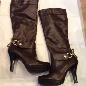 Jasmine brown heel boots